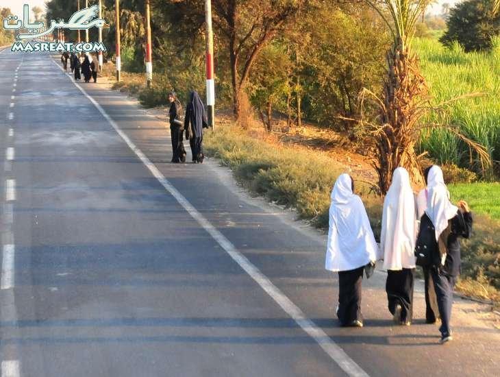 محافظة سوهاج اثناء عودتهم من المدرسة